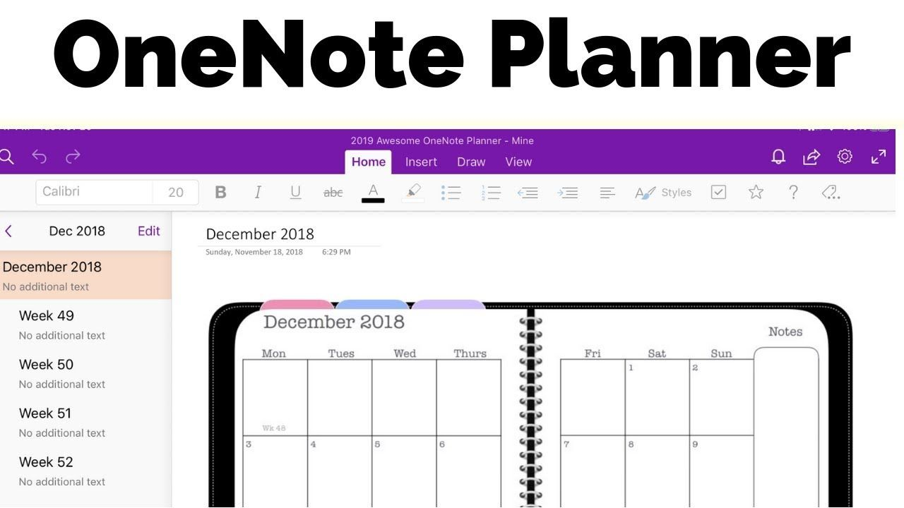 Onenote Planner The Awesome Planner For Microsoft Onenote 2020