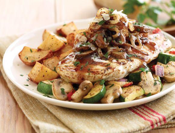 Napa Chicken & Portobellos. Under 550 cals!! A grilled chicken ...