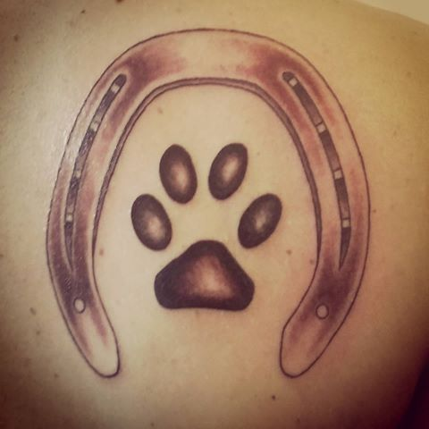 Image Result For Horse Shoe And Dog Paw Tattoo Tattoos Body Art Tattoos Couple Tattoos
