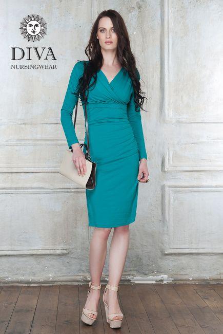 1ceec5463e153 Diva Milano Nursing Dress Lucia, Smeraldo | Maternity and Nursing ...