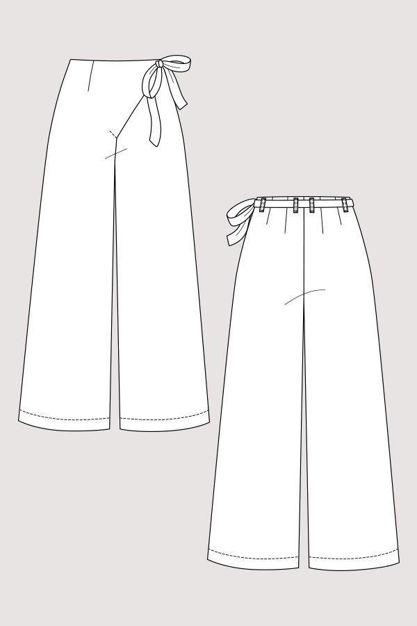 Astrid Wrap Pants | Schnittmuster und Nähen
