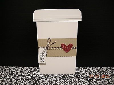 Handmade Greeting Cards Stampin' Up Valentine's Coffee Cup 3D | eBay