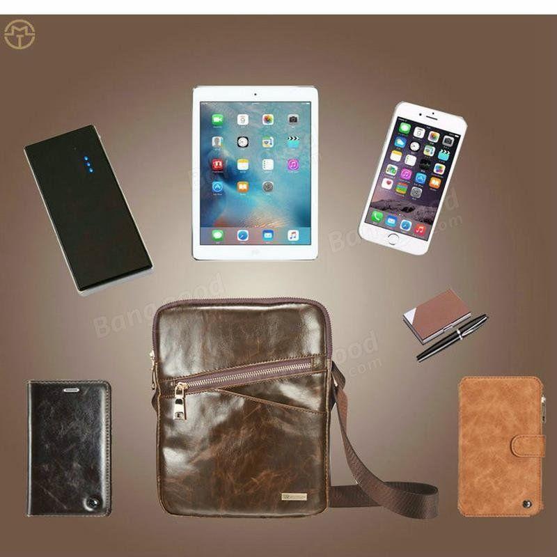 [US24.99] Caseme Vintage Leather Business Shoulder