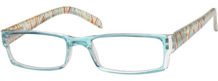 Blue Rectangle Glasses 271516 Zenni Optical Eyeglasses