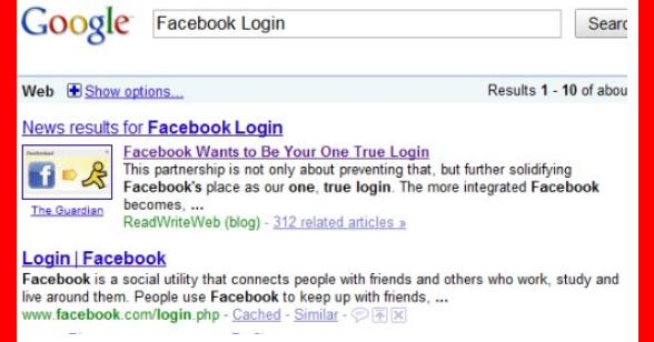 L facebook login How to