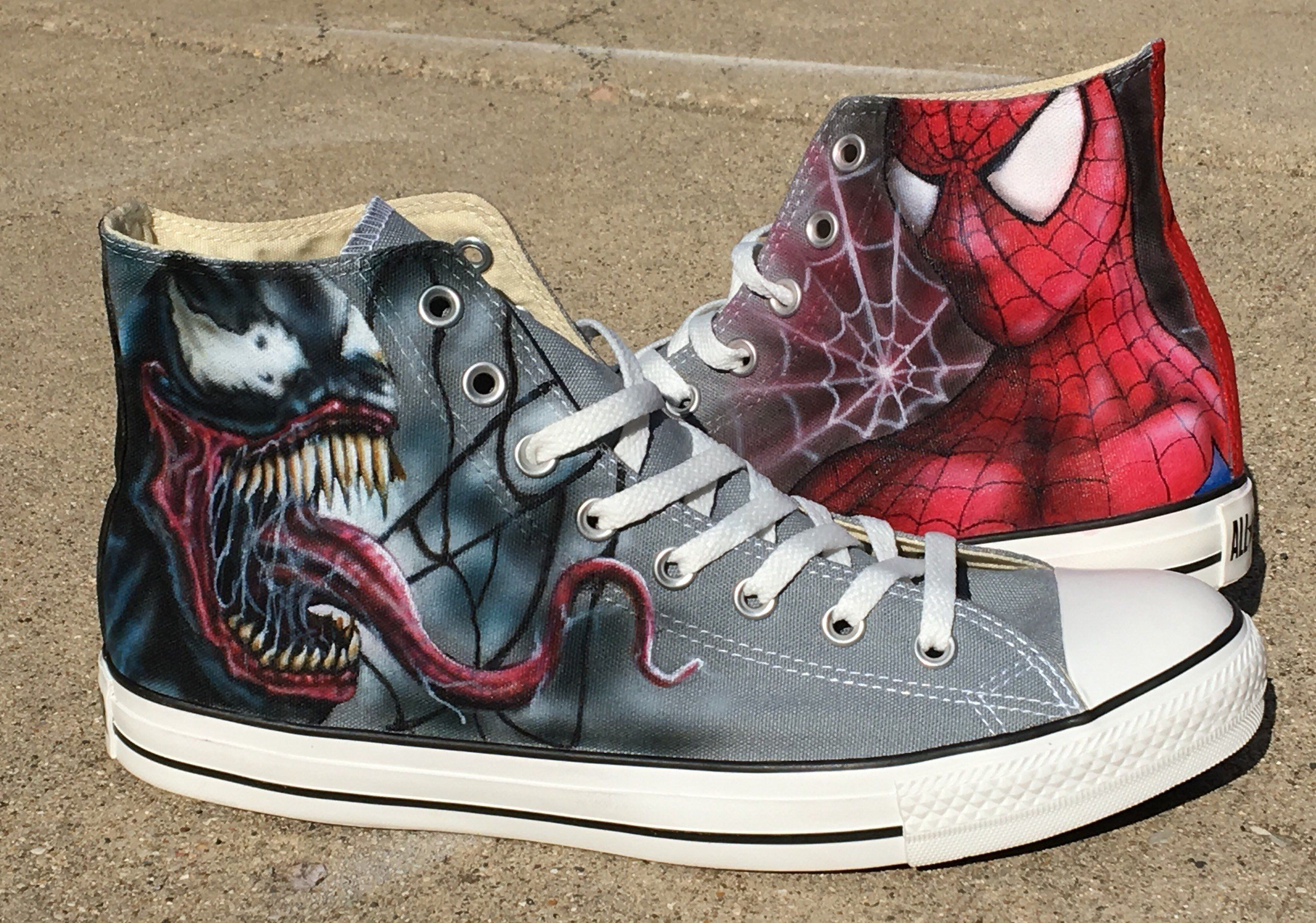 Spider Man Custom Converse White