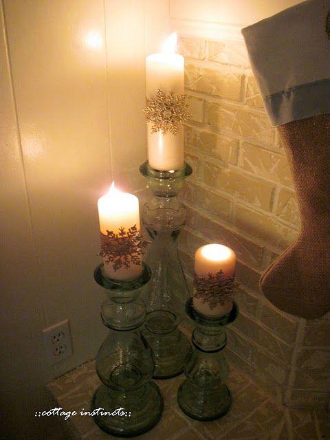 Cottage Instincts Holiday Home Tour Candle Arrangements Candle Stick Decor Candle Decor