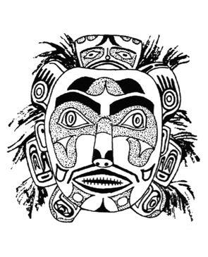 Kwakiutl Indian Mask Sketch