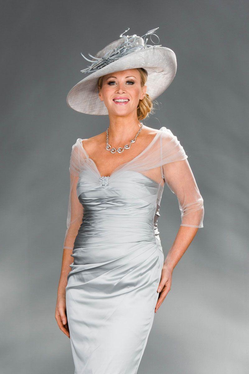 Silver Satin Short Dress