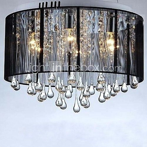 Luxury black drop ceiling crystal chandelier dropped ceiling cheap cloth lampshade buy quality pendant lamp directly from china ceiling pendant lamp suppliers black cloth lampshadedrops of water crystal modern mozeypictures Choice Image