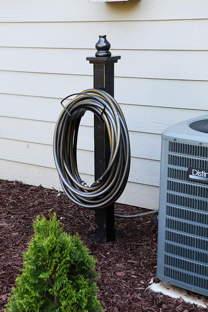 Decorative Hose Holder Garden hose storage, Diy outdoor