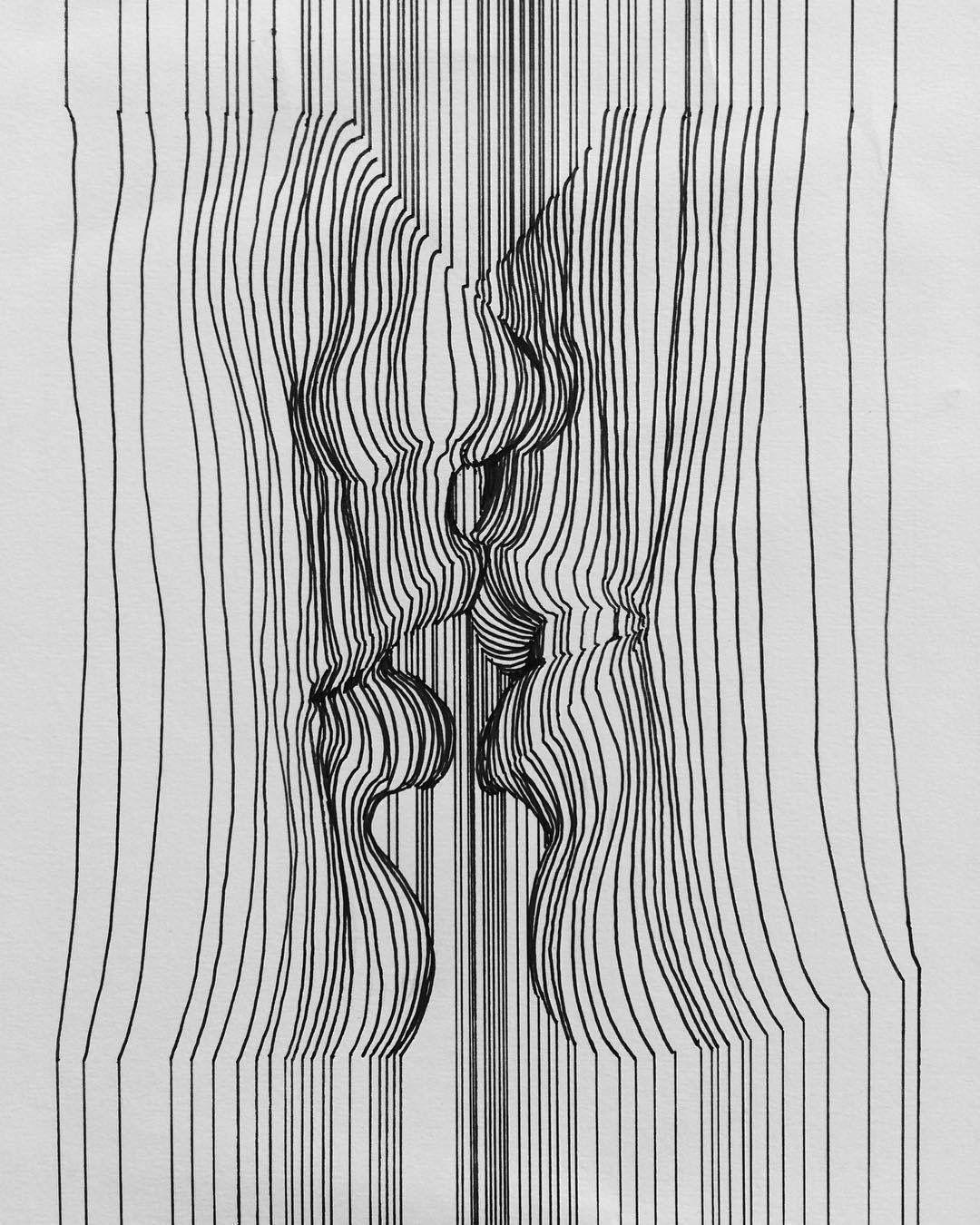 Dibujos A Linea Trabajos De Arte Dibujos Significativos Arte Lineas