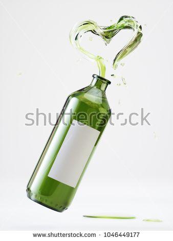 Olive Oil Packaging - 3D Rendering