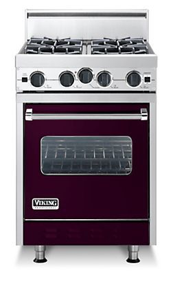Classic 24 Inch Four Burner Gas Range Viking Range Corporation Viking Stove Tiny House Kitchen Color Red