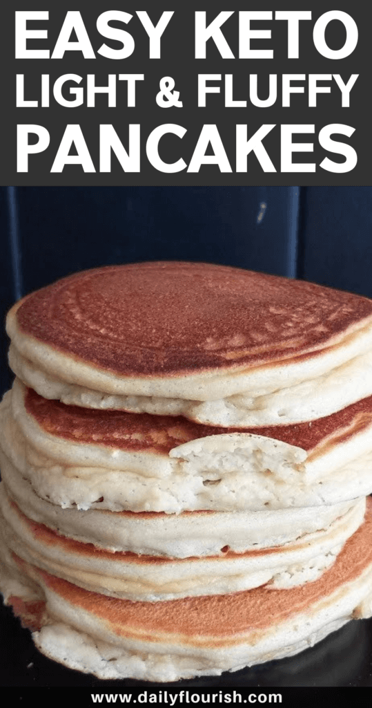 Easy Fluffy Keto Pancakes (Best Low Carb Breakfast Pancakes Ever)