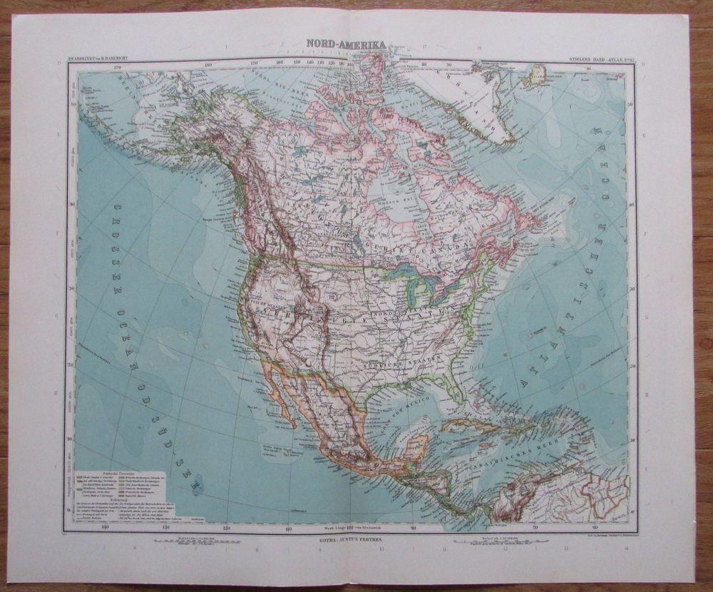 Alte historische Landkarte Palästina Karte Lithographie 1906