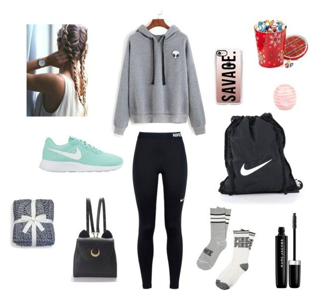 """""""Future style🔥"""" by maddiegirl04 on Polyvore featuring NIKE, WithChic, Casetify, River Island, Marc Jacobs, UGG and Lindt"""