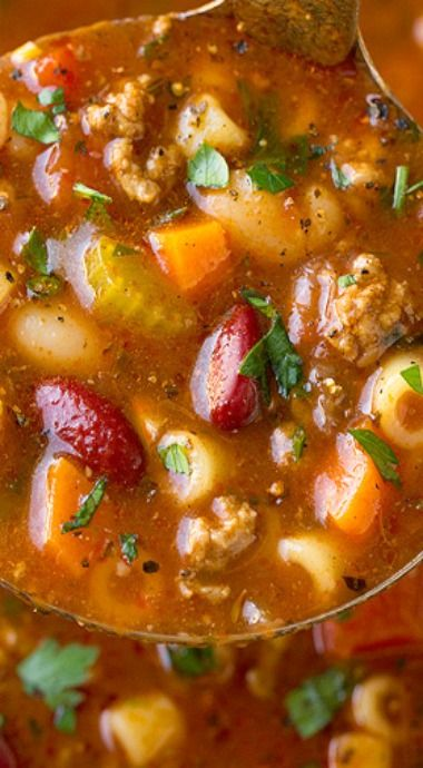 Copycat Olive Garden Pasta e Fagioli Soup   BEST Food Recipes ...