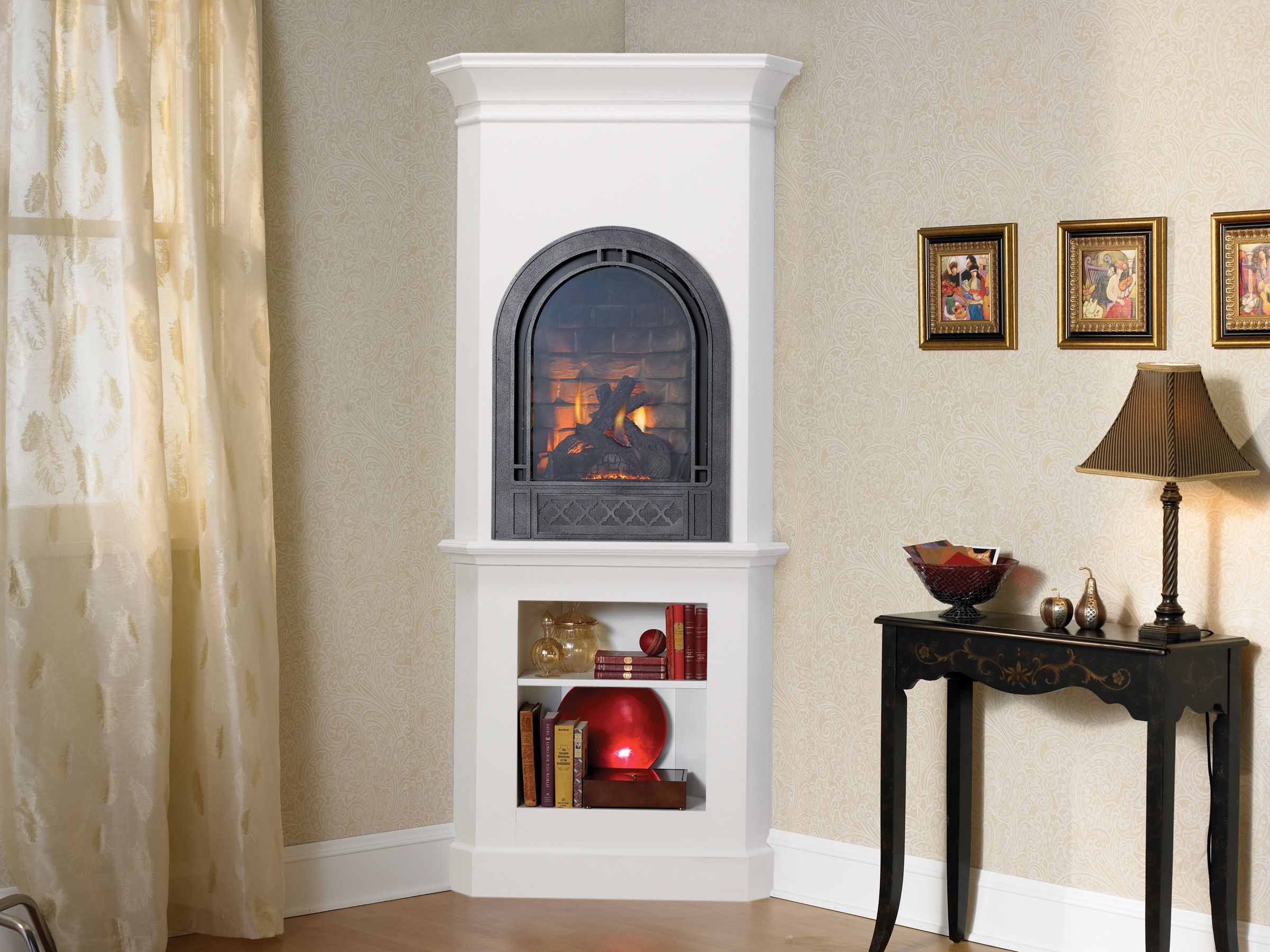 Heat N Glo Gas Fireplace Crescent Ii By Heat N Glo Is Ideal For A Smaller Space Fake