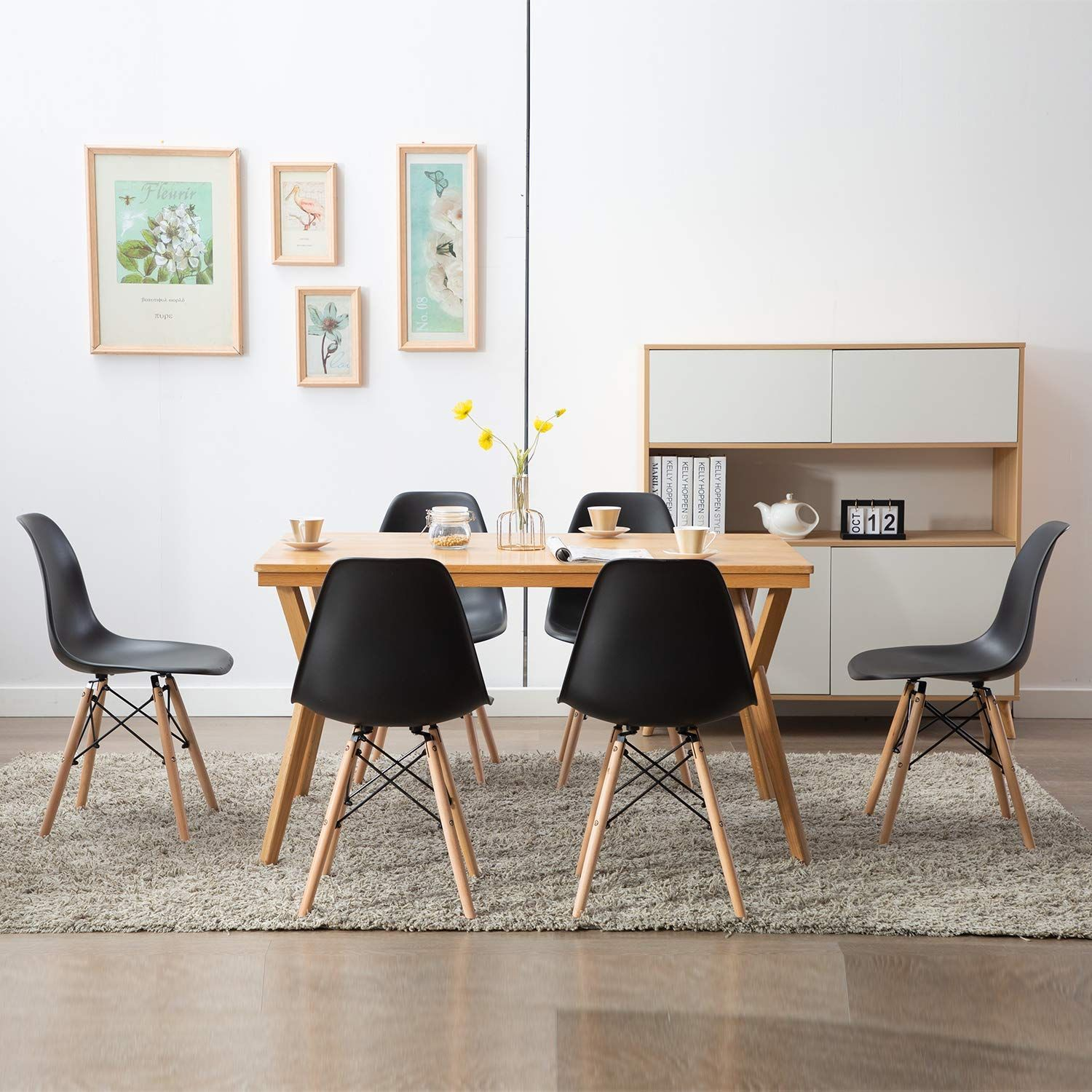 Lot De 6 Chaises Chaise De Salle A Manger Style Scandinave In 2020 Home Decor Furniture Dining Chairs