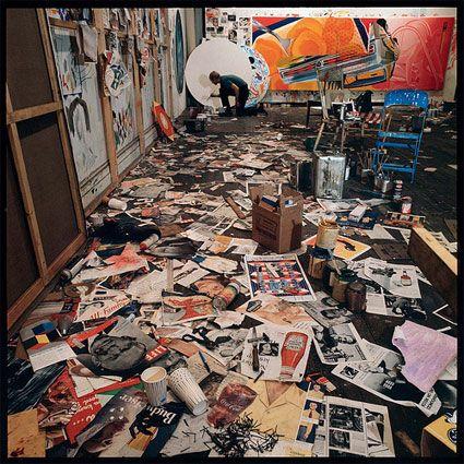 James Rosenquist In The Studio. 1964