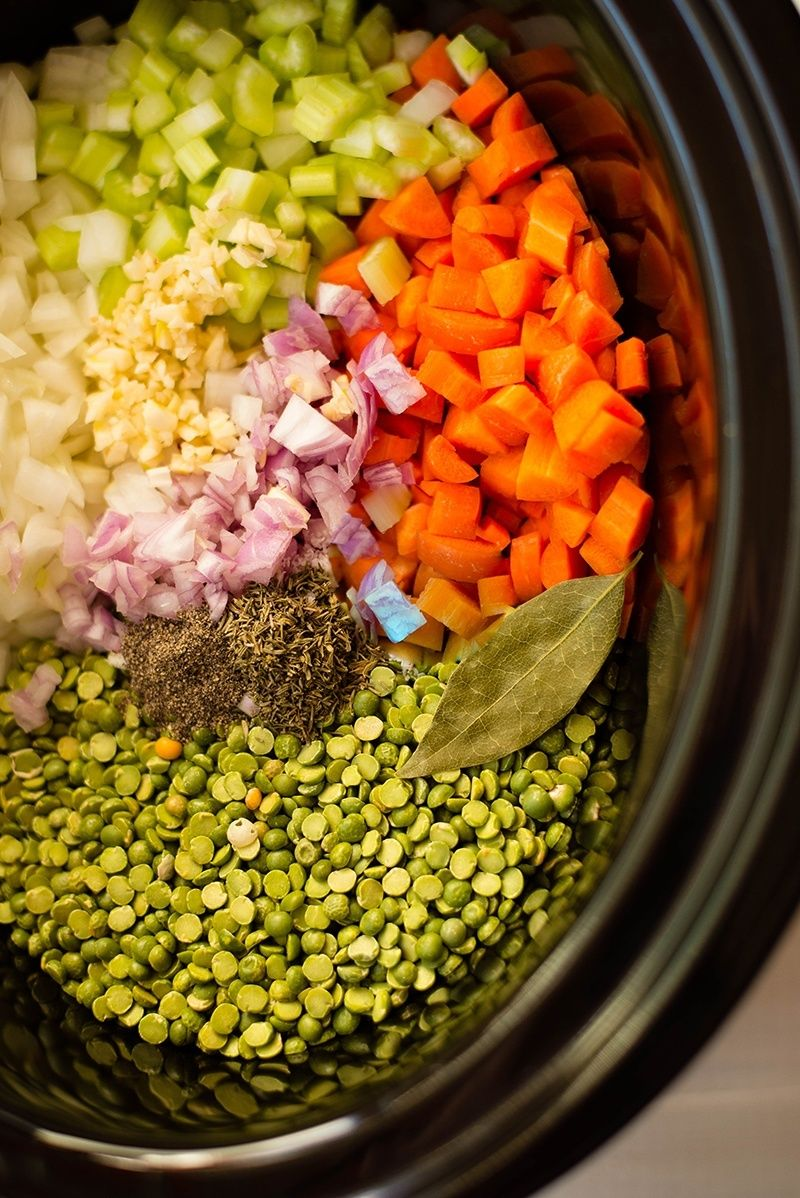 Slow Cooker Split Pea Soup Recipe Healthy Slow Cooker Slow Cooker Soup Pea Ham Soup