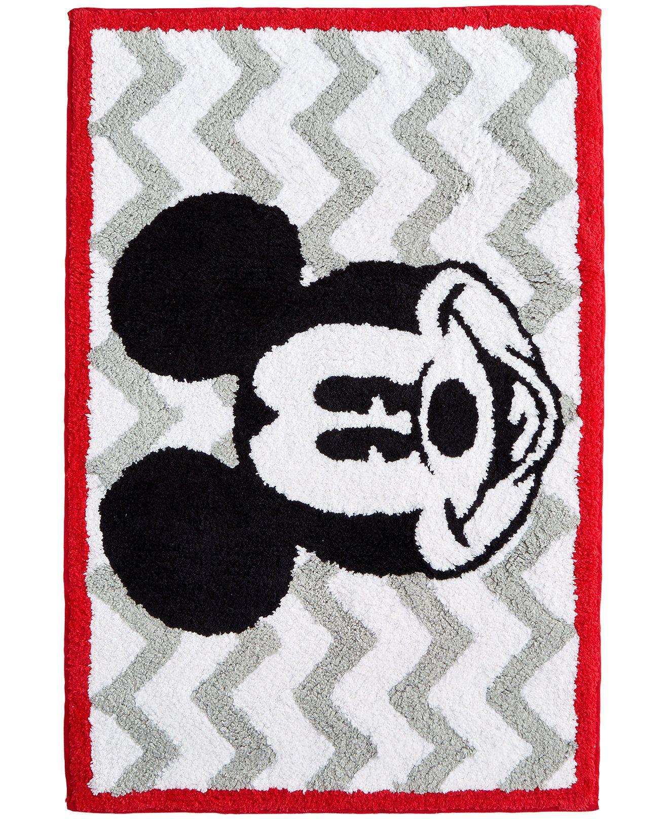 Mickey Chevron Rug Bath Rugs Bath Mats Bed Bath Macy S Mickey Mouse Bathroom Mickey Bathroom Mickey Mouse Room