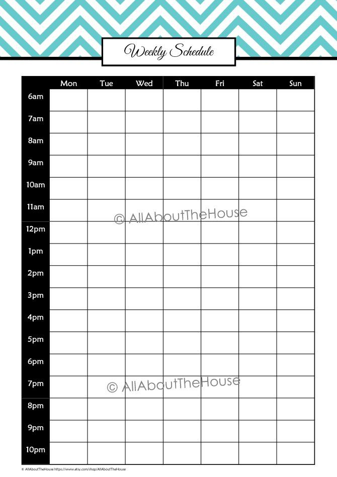 Printable Student Planner Student planner - weekly schedule template