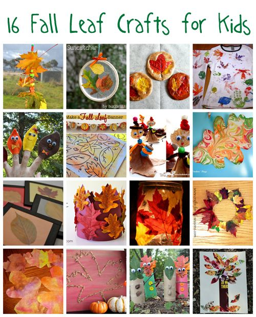 Kid Fall Craft Ideas Part - 25: 16 Fall Leaf Crafts For Kids
