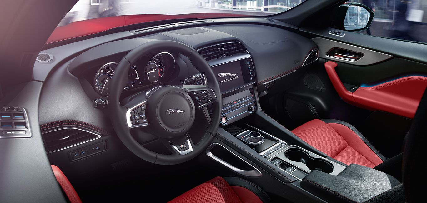 Jaguar F Pace Explore The Interior Features And Options Jaguar Suv Interior Jaguar F Type Jaguar Suv