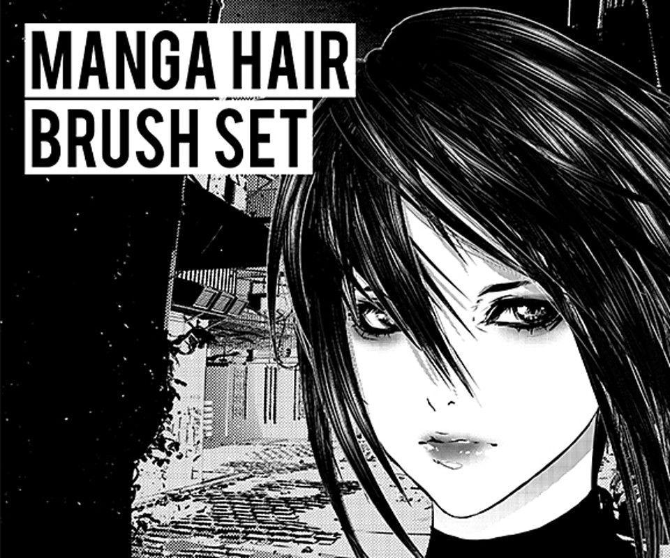 6 perfect Custom brushes designed to make drawing manga