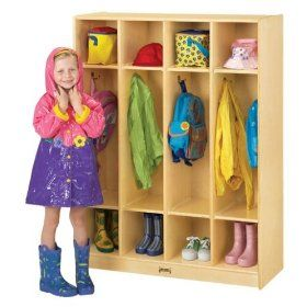 Jonti Craft Coat Locker   4 Sections Lockers Jonti Craft Coat Locker   4  SectionsBirch:Eight Double Coat Hooks And Generous Cubbies.