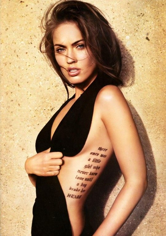Tattoo Megan Fox Tattoo Celebrity Tattoos Women Celebrity Tattoos
