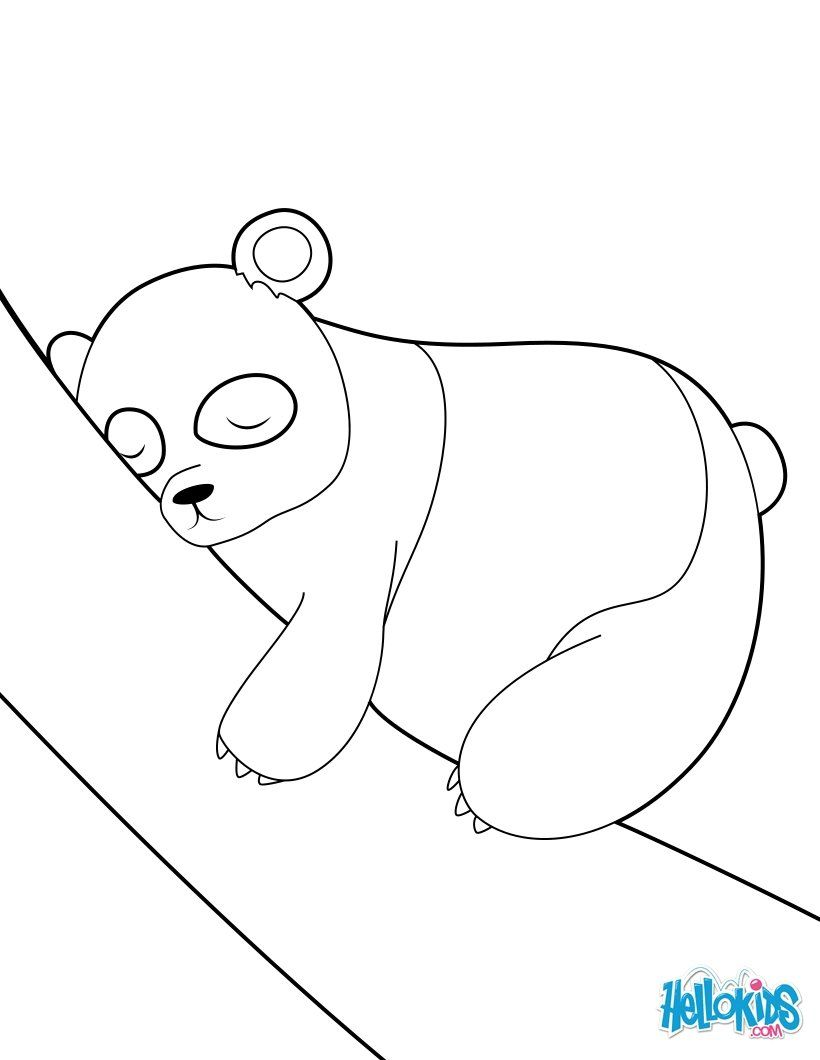 Sleeping Panda coloring page. More Asian animals coloring pages on ...