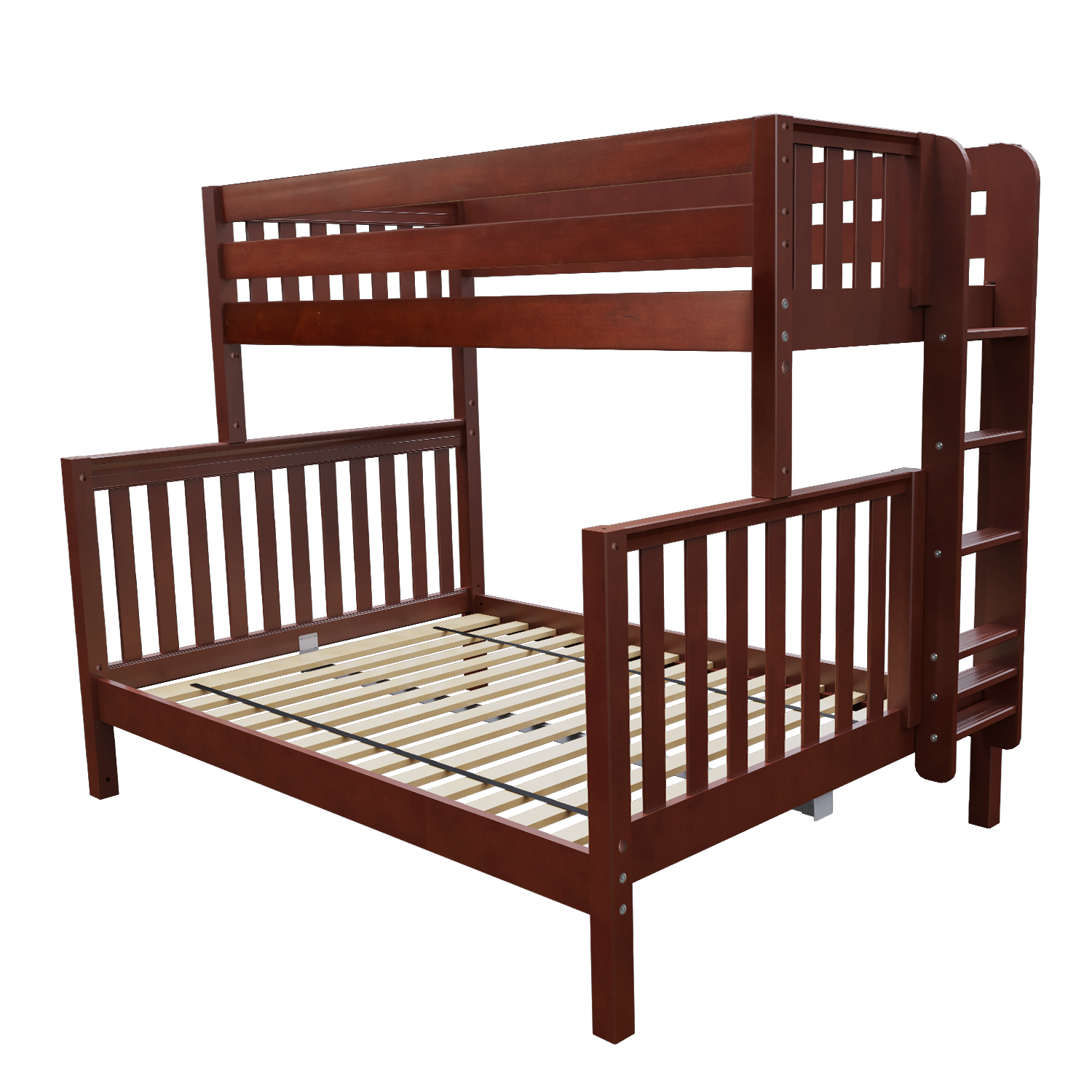 With A Beautiful Deep Finish The Twin Over Queen Xl Bunk Bed Is