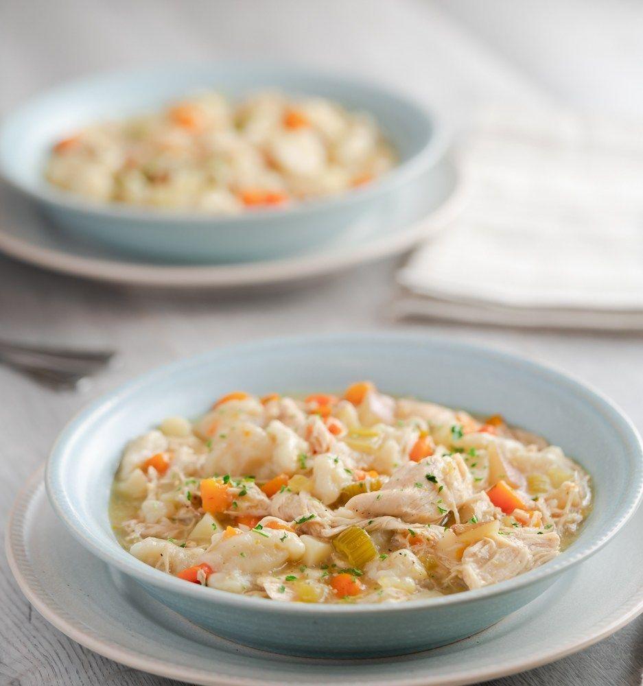 instant pot chicken  dumplings  recipe  chicken and