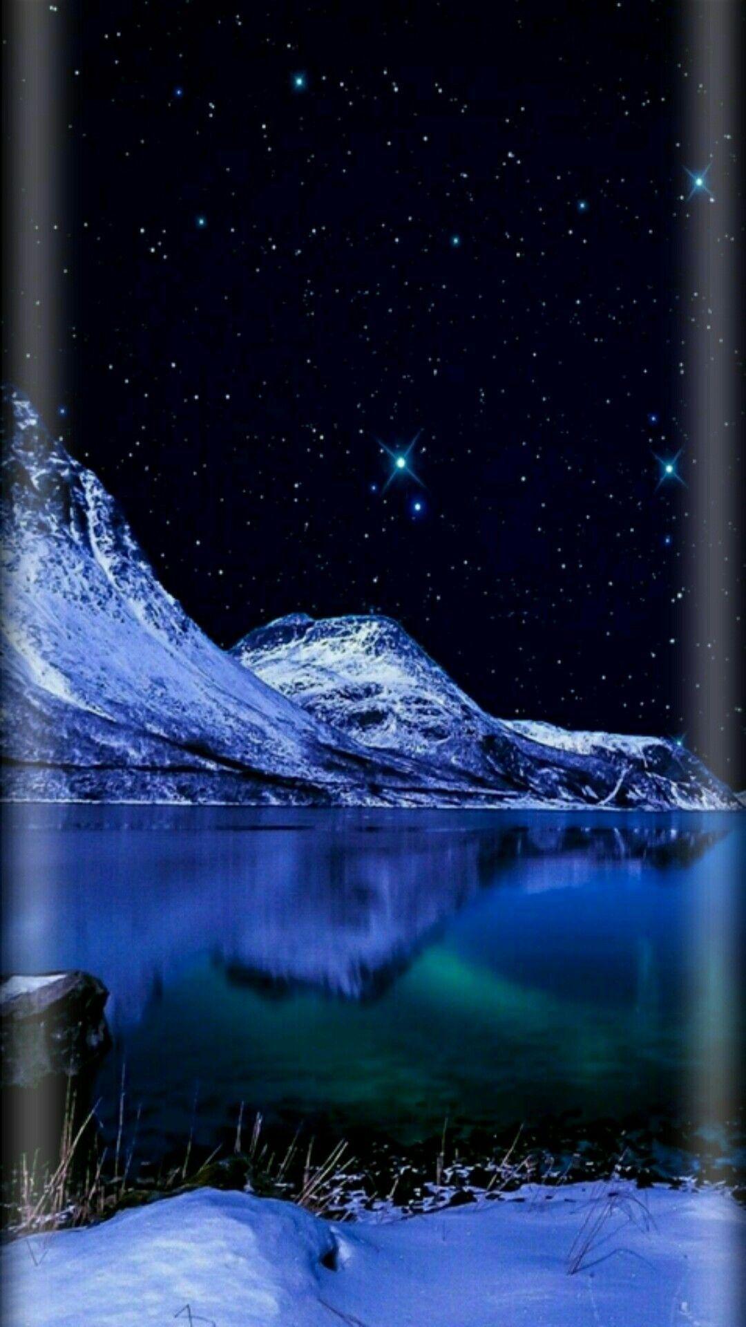 Night Sky Moon Stars Nature Nature In 2019 Hd Phone Wallpapers Night Scenery Night Sky Wallpaper Scenery Wallpaper