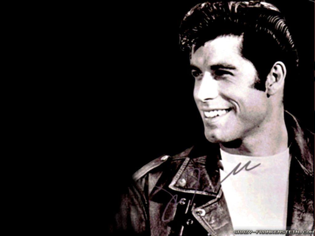 Danny zuko black t shirt - John Travolta Young Grease Wallpaper
