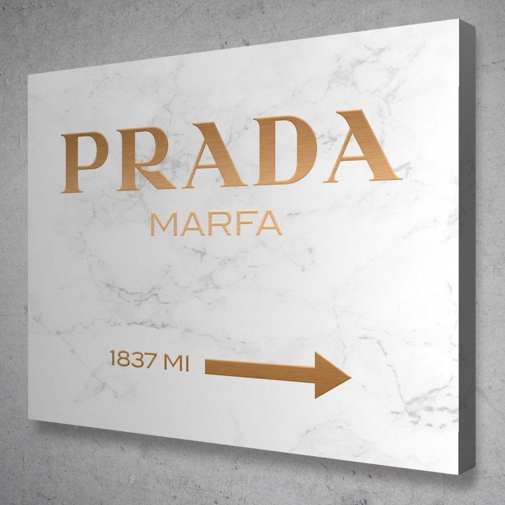 Prada Marfa Light Marble Canvas Wall Art In 2021 Prada Marfa Marfa Lights Modern Wall Art Canvas