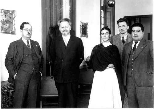 Leon Trotsky, Frida Kahlo y Diego Rivera