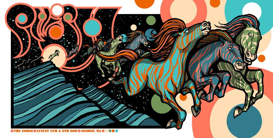 2c0a5c35cd0 Phish poster from the Gorge 8 5 11- Brad Klausen