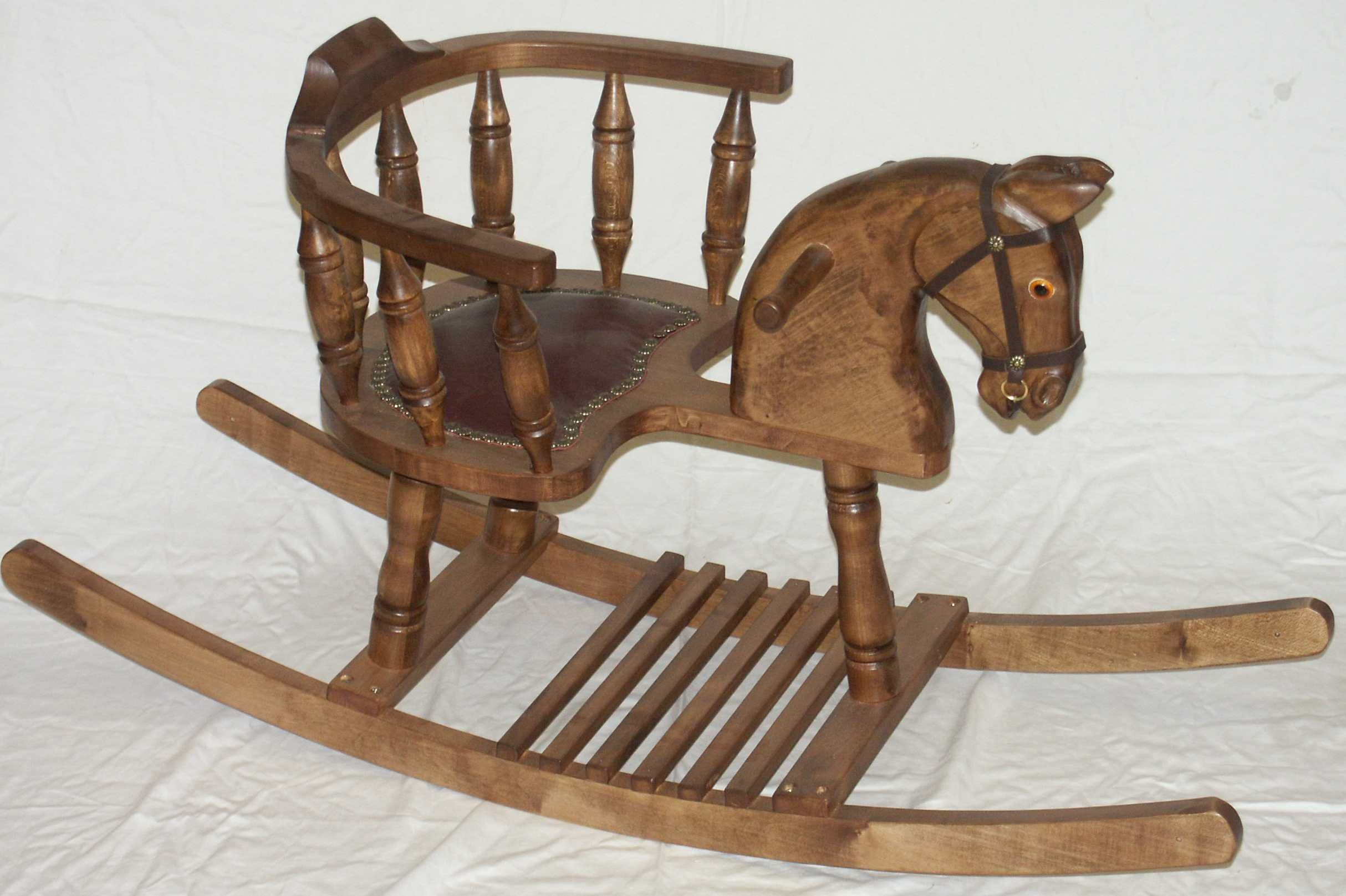 wooden horse rocking chair