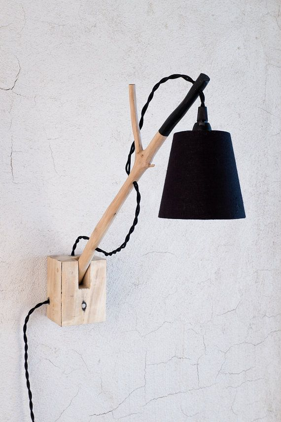 Eco Friendly Lamp Handmade Pallet Lamp Wall Sconce Wood Lamp Branched Wall Light Unique Lamp Wall Mounted Useful Gift Wall Lights Lamp Unique Lamps