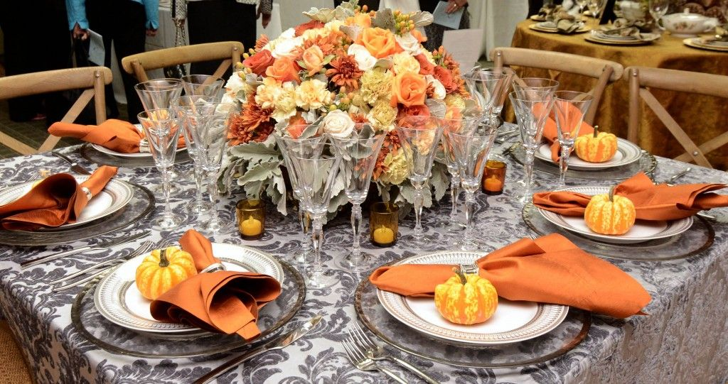 orange and ivory tablescape - Google Search