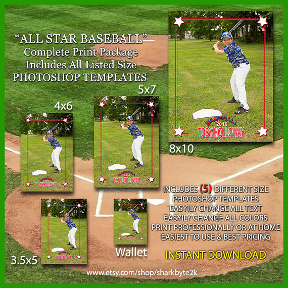 2016 Baseball Photoshop Template Overlay. 5 by Sharkbyte2k ...