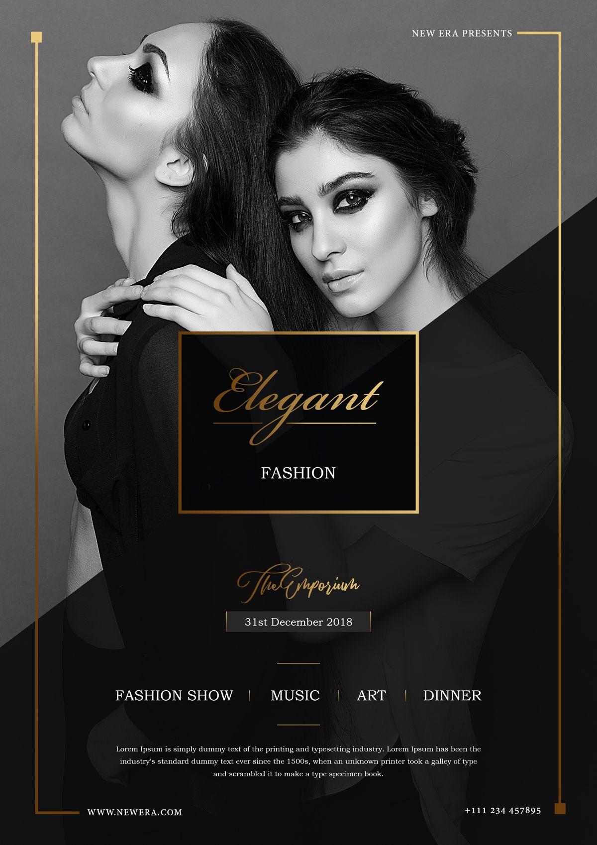 Fashion Show Flyer Fashion Poster Design Fashion Show Poster Fashion Poster