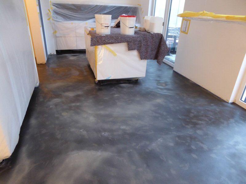 2 Bodenflnche Unter Absanden Grundiert Beton Cire Haus Boden Betonboden