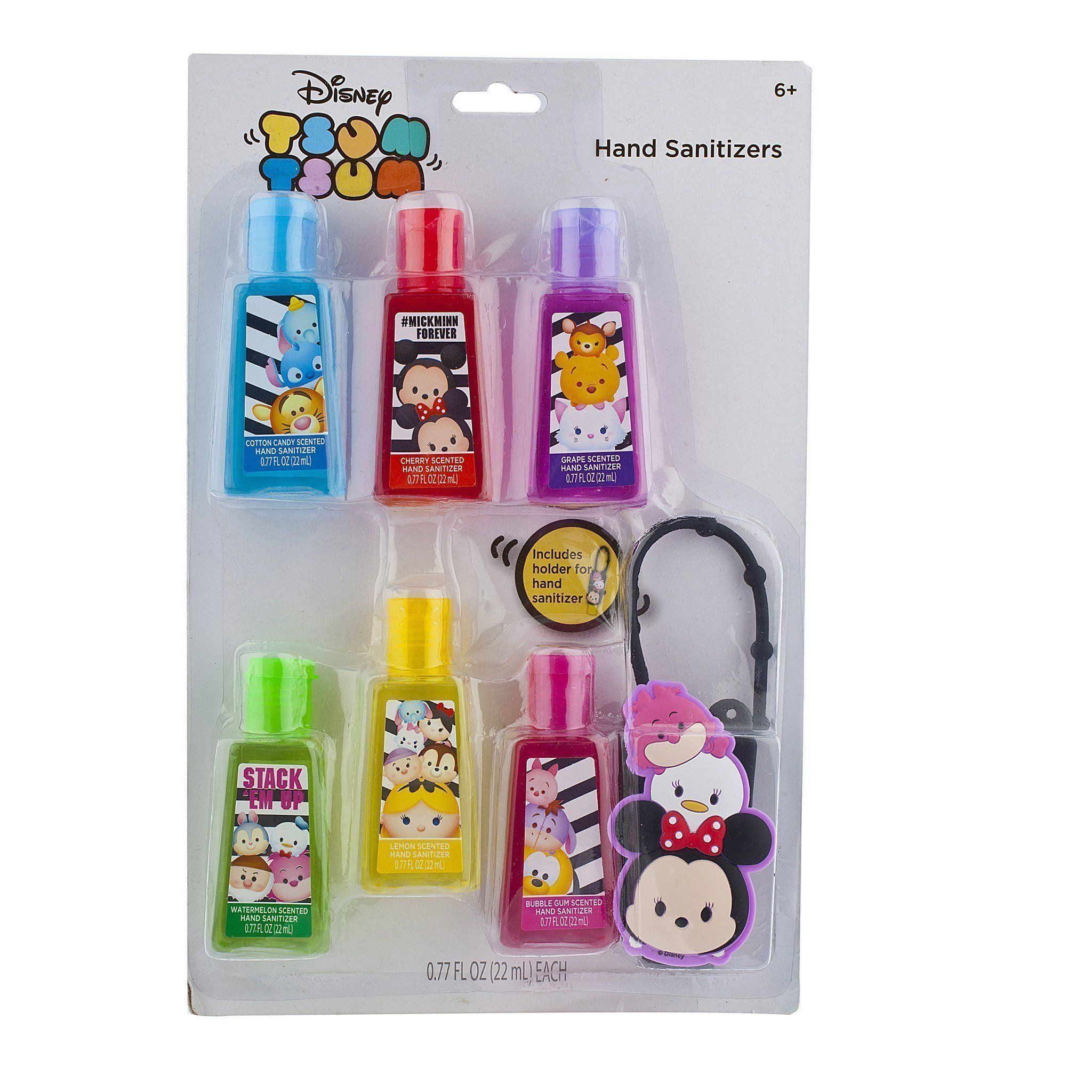Tsum Tsum 6 Pack Hand Sanitizer With Holder Set