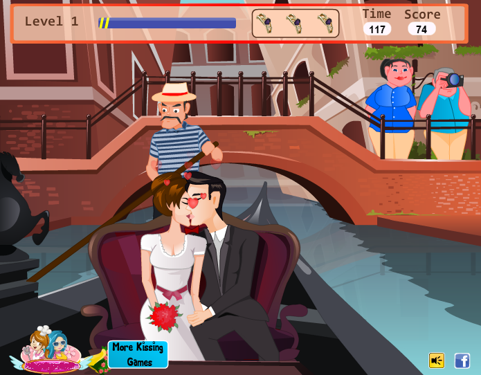 Kissing in a Gondola Kiss Games Online (With images