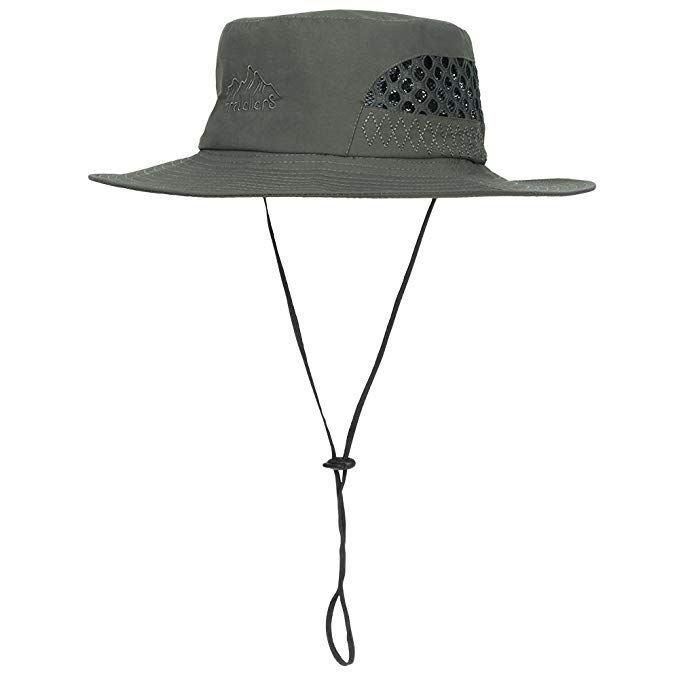 Vadventure Waterproof Sun Hat Wide Brim Boonie Hats Summer UV Protection  Outdoor Fishing Hats Hiking Camping 61863a9a2294